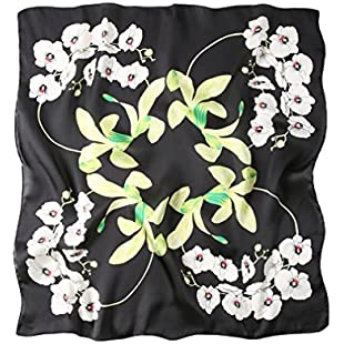 4URNEED Women Summer Fall Floral Neckerchief,Square Scarf,Headdress,Fashion Accessories Color # 033:Warezcrack