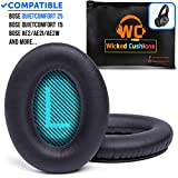 WC Premium Replacement Ear Pads for Bose QC25 Headphones Made by Wicked Cushions - Comfortable Adaptive Memory Foam - Extra Durable - Fits QuietComfort 25 / QC2 / QC15 / Ae2 / Ae2i / Ae2w (Over-Ear)