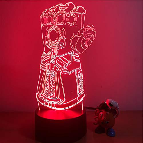 Oorlogse handschoenen voetbal nachtlampje, optische illusie LED nachtlampje USB tafellamp, voor kinderen Kerstmis verjaardag beste cadeau speelgoed
