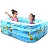 Niños Piscina Inflable,Piscinas Desmontables Grandes Usado para Jardín Fiesta Al Aire Libre Bañera Inflable Plegable