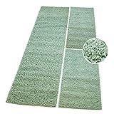 carpet city Bettumrandung Shaggy Hochflor Teppiche Soft Grün Einfarbig Modern für Schlafzimmer, Größen: 2X 70x140 cm, 1x 70x250 cm