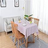 LIUJIU Mantel rectangular de PVC para cocina, comedor, limpieza de plástico, para interior y exterior, 140 x 180 cm