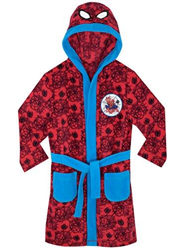 Spiderman l'homme Araignée - Robe de Chambre Garçon - 7-8 Ans,Multicolore