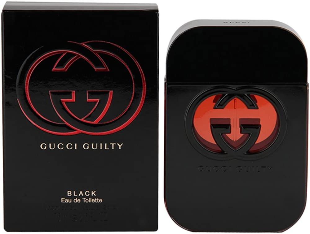 gucci guilty black ,eau de toilette per donna,75 ml, spray 233607