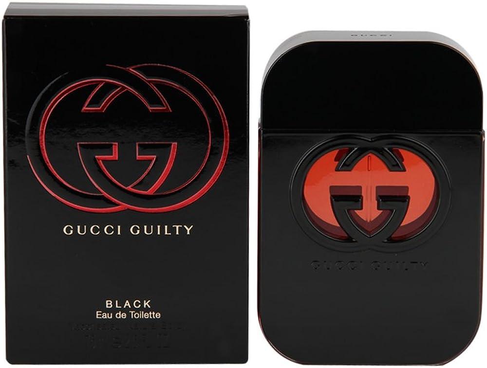 Gucci guilty black ,eau de toilette per donna,75 ml, spray 233607