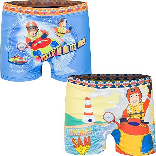 Feuerwehrmann Sam Jungen Badehose, Gelb, Gr.- 6 Jahre