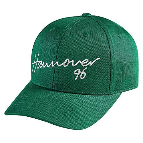 Hannover 96 Basecap - Schriftzug - grün Cap, Kappe, Schildmütze H96 - Plus Lezeichen I Love Hannover