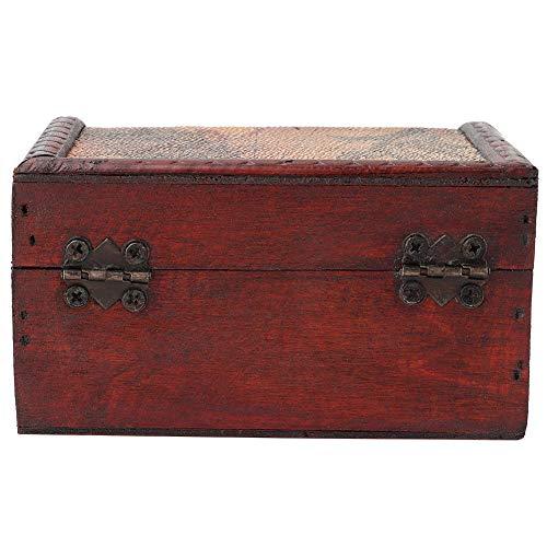 Weikeya Caja de almacenamiento valiosa, exquisita y duradera, para evitar arañazos, tarros de plástico hechos de madera