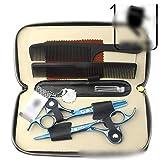 YHtech 6.0 Pulgadas a Color del Pelo Tijeras Set, Azul Cereza Profesional de peluquería Herramientas (Color: Azul)