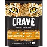 CRAVE Croquettes pour chat – Goût dinde & poulet – Nourriture sèche sans céréales riche en protéines – Lot de 5 sacs de 750g