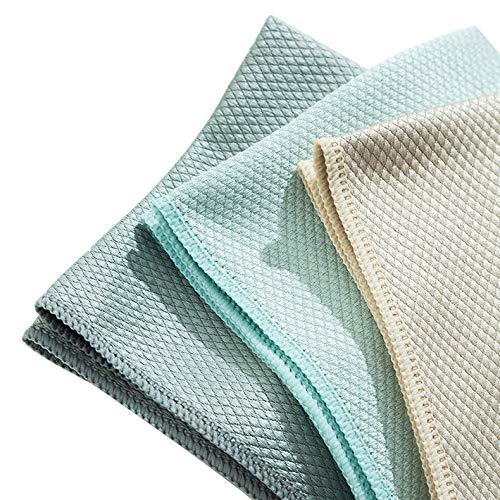ZXC 5 paños de limpieza de microfibra grandes, súper suaves, de fibra premium, suaves y sin pelusas, para el hogar, la cocina y el coche, paquete de 5 (tamaño: 25 x 25 cm)
