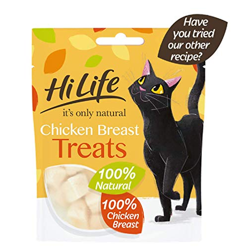 Hilife It's Only Natural Cat Treats Chicken Breast, Pack of 12