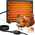 Fiada Chicken Coop Heaters, 100/200W Adjustable Wattage UL Tested Radiant Heat Flat Panel Heater Chick Heating 2 Mounting Style Frostbite for Chick Kitten Puppy Pets Animals