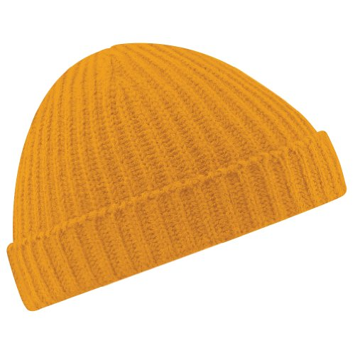Beechfield Unisex Retro Trawler Winter Beanie Hat Baseballkappe, Gold (Senf), One Size