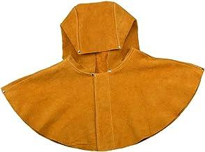 MERIGLARE Capa de Trabalho para Soldador de Couro de Couro Xaile Proteção para Cabeça E Pescoço Universal