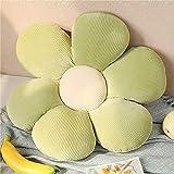 longsheng Almohada decorativa con forma de flor de margarita, almohada de piso de flores, almohada decorativa de felpa para leer y descansar, cómoda almohada de felpa viva
