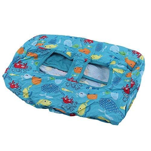 Kaned Polyester Supermarkt Shopping Trolley Seat Hochstuhl Matte für Baby Kinder Kinder,Fisch