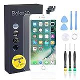 bokman Écran Tactile LCD pour iPhone 6 Blanc Vitre LCD Ecran Assemblé avec Bouton Home, Capteur de...