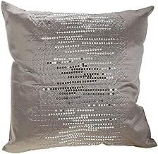 Taraf Gray 45 X 45 Cm Zig Zag Cushion