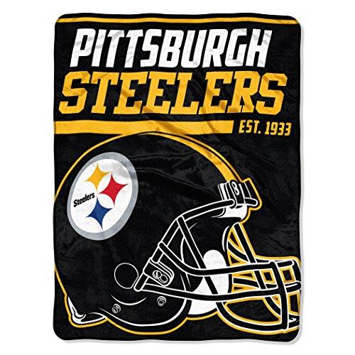 Officially Licensed NFL Pittsburgh Steelers '40 Yard Dash' Micro Raschel Throw Blanket, 46' x 60', Multi Color