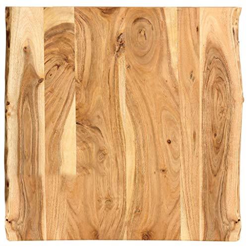 vidaXL Massivholz Tischplatte Baumkante Massivholzplatte Akazie 60x60x2,5 cm