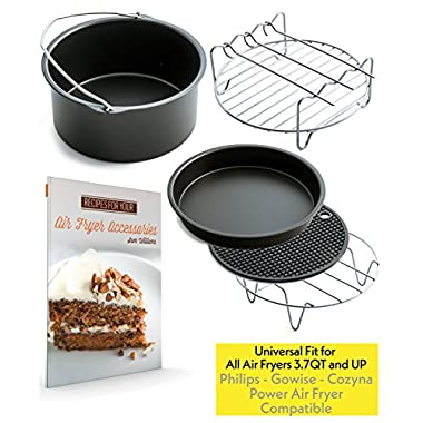 Air Fryer Accessories for Gowise Phillips and Cozyna, Set of 5, Fit all 3.7QT - 5.3QT - 5.8QT