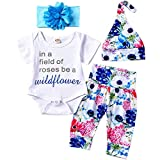 Newborn Baby Girl Clothes Summer Ruffle Short...