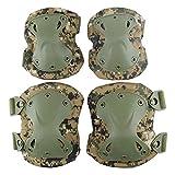 HKD Profesionales Codo Militar Protector de Rodilla 4-En-1Rodilleras Tácticas De Seguridad Militar para Hombres Almohadillas de protección (Color : B)