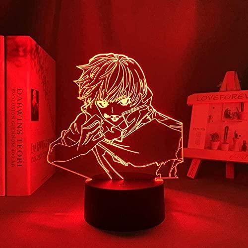 3D llevó los niños anime resplandor luces lámpara 3D noche luz anime lámpara Toge Inumaki llevó la luz de la noche para regalo de cumpleaños noche toque para niños 7 colores