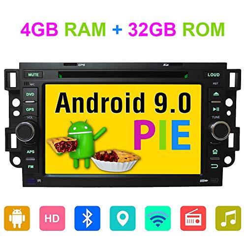 Android 9.0 Octa Core 4 GB RAM Radio Estéreo GPS Navegación para Chevrolet Aveo Epica Captiva 2006 2007 2008 2009 2010 2011 con Bluetooth DVD Player Soporte RDS Dab+ WiFi Cámara en AV out