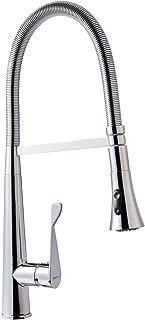 AmazonBasics Pro-Style Flexible Sprayer Kitchen Faucet, Polished Chrome
