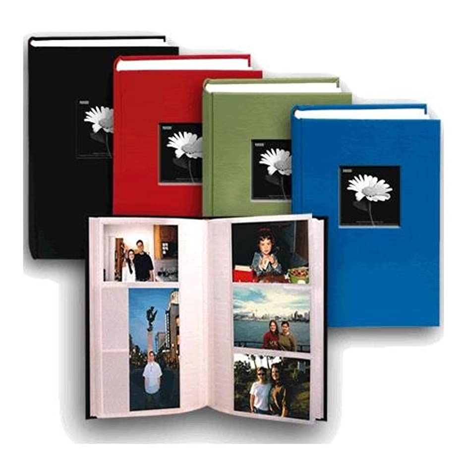 Pioneer Fabric Frame Bi-Directional Memo Photo Album, Bright Fabric Covers, Holds 300 4x6 Photos, 3 Per Page, Color: Assorted.