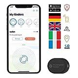 musegear Schlüsselfinder Mini mit Bluetooth App I Keyfinder laut für Handy in schwarz I GPS...