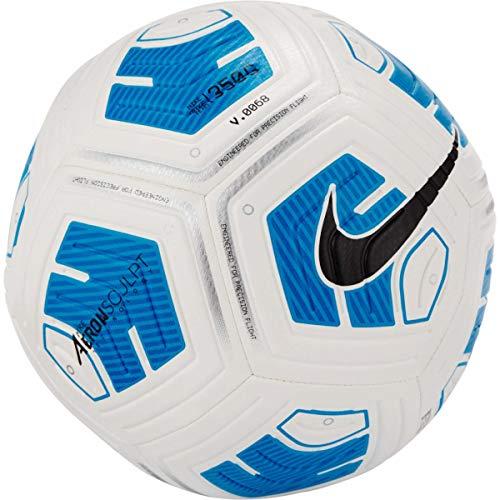 Nike Balón de fútbol Unisex, 350 gr, Color Blanco/Azul/Negro, 3