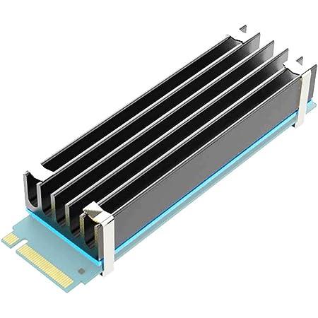 GLOTRENDS M.2ヒートシンク 冷却ラジエーターフィン 熱暴走対策 アルミニウム製 (高さ:10mm)+導熱接着シート+シリコンゴム+取付用(金属)付き