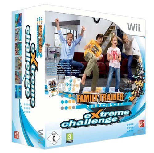 Family Trainer: Extreme Challenge with Family Trainer Mat Controller (Wii) by Namco Bandai