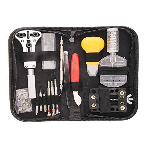 QTDH Montre Repair Tool Kit, 144pcs Réparation De Montre Bracelet Set Adjust Pin Outil Bricolage Kit De Réparation pour, Boutique De Montres, Artisanat