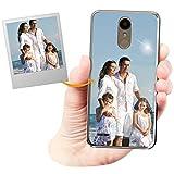Coque Personnalisée avec Effet Brillance pour LG K10 2018 avec Votre Photo, Votre Image ou Votre...