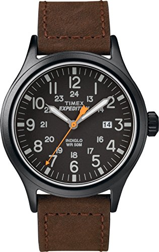 Timex Herren Analog Quarz Uhr mit Leder Armband TW4B12500