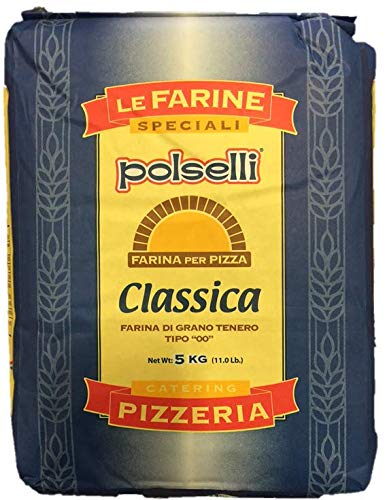 CLASSICA Tipo 00 Flour | All Natural - Unbleached - Unbromated - No Additives | for Pizza, Pasta, and Baking Flour (5 kg) 11 lbs by Polselli ?