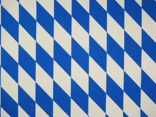Zanderino ab 1m: Original Bayern Raute, Weiss-blau, Baumwoll-Stoff, 145cm breit