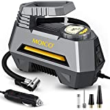 MOICO Portable Air Compressor Tire Inflator, DC 12V Digital Air Pump for Car Tires, Auto Tire Pump with Emergency LED Light, Tire Inflator for Car Tires, Bicycles, Balls and Other Inflatables