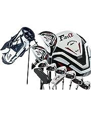 WORLD GOLF(ワールドゴルフ) ワールドイーグル WE-F-F-01α メンズクラブセット【左用-R】+【ホワイト】WE-F-F-01α スタンドバッグ     フレックス:R