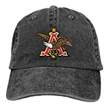JUNIY Budweiser Beer Eagle Washed Baseball Cap for Unisex Vintage Dad Hats for Hiking Running Fishing
