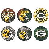 """Offizielle NFL """"Green Bay Packers"""" Button, Anstecker, Pins als 6er Set -"""
