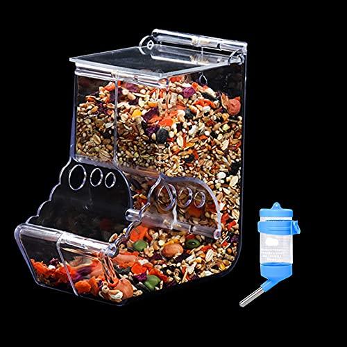 BenRan 小動物 自動給餌器 ハムスター 80ml給水器付き 固定式 エサ 餌入れ ハリネズミ 餌やり 食器 お留守番対策 (A)