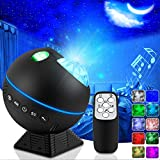 Star Projector, Star Night Light Galaxy Projector for Bedroom Party Ceiling with LED Nebula Cloud Wave, Adjustable Brightness 10 Lighting Colors Starry Sky Lights with Remote Control for Kids Adults