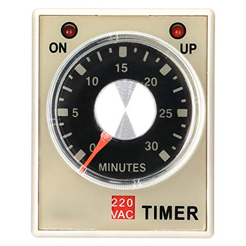 Relé temporizador de retardo, relé de tiempo AH3-3, 220VAC 6/10/30/60 minutos Temporizador de retardo de encendido(30M)