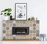 DIY Tile Fireplace Makeover Heat-Resistant Sticker Decals Simple and...
