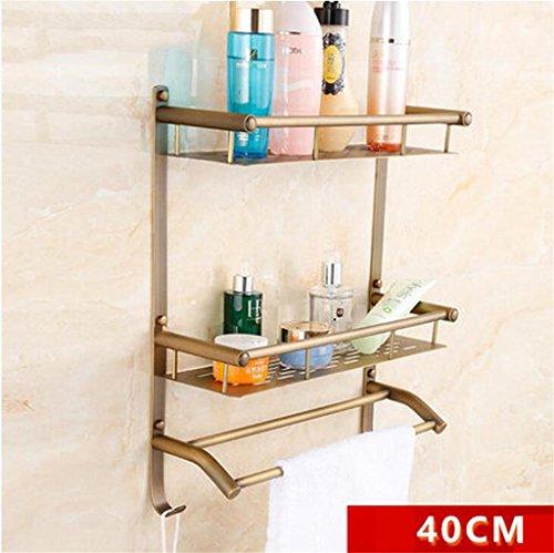 FAFZ Salle de bain Etagère, Salle de bain Etagère de style européen, Double-couche de bain rack (couleur : # 6)
